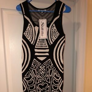 Stiletto Black & White Dress